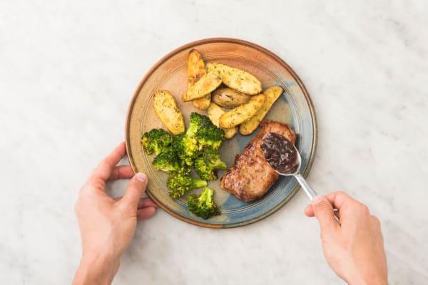 Glaze Pork and Serve