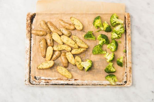 Roast Broccoli and Brown Shallot