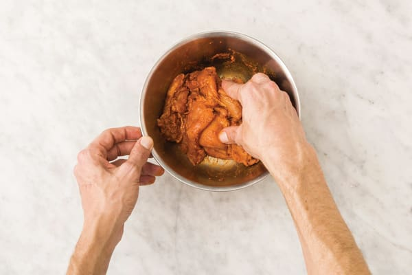 Add flavour to the chicken