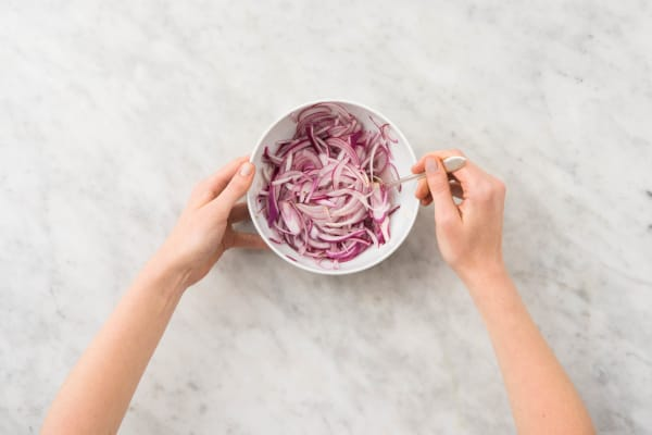 Pickle Onion and Make Crema