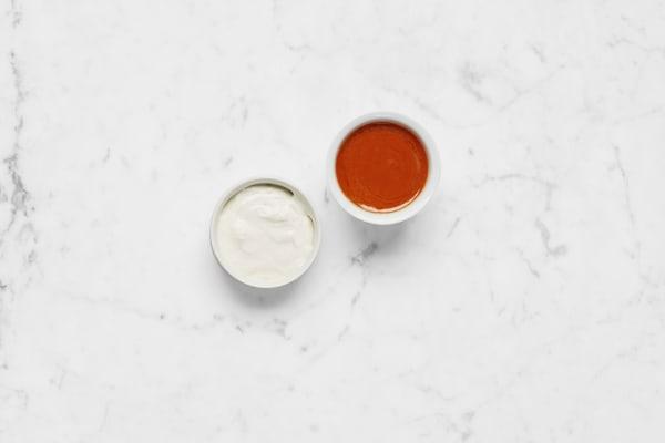Make Buffalo and Ranch Sauces
