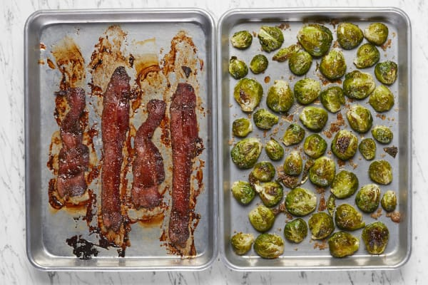 Roast Brussels Sprouts and Bacon