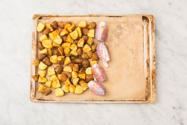 Kartoffelspalten backen