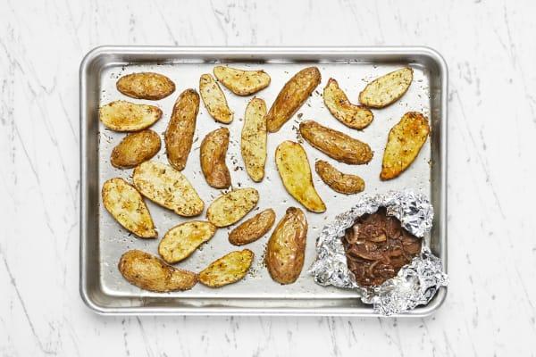 Roast Potatoes and Shallots