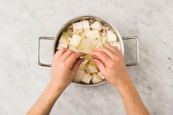Hutspot koken