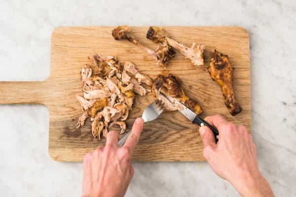 Effilocher le poulet