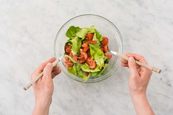 Salade préparation
