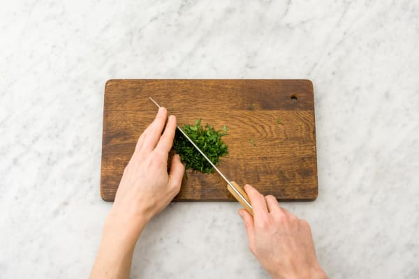 Ciseler le persil frisé