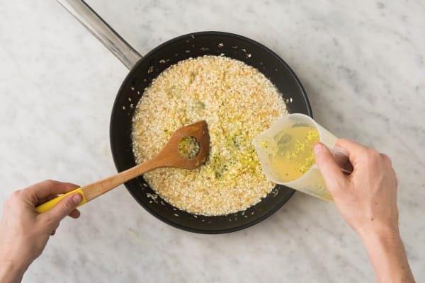 Préparer le risotto
