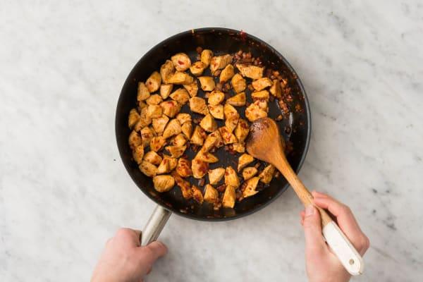 Kip en spek bakken