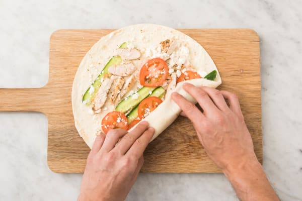 Make Lunch Wraps for Two