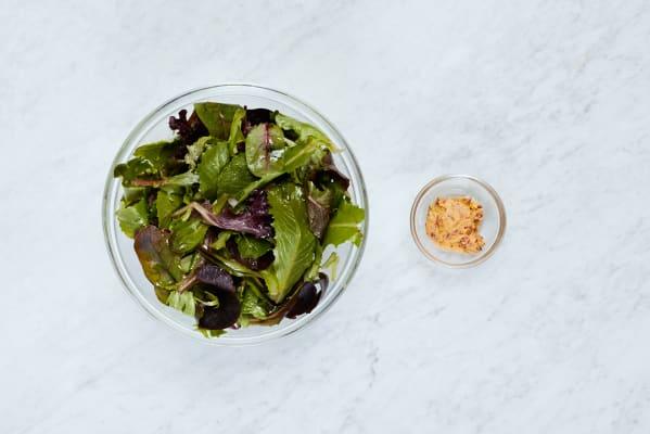 Make Salad and Lemon Chili Butter