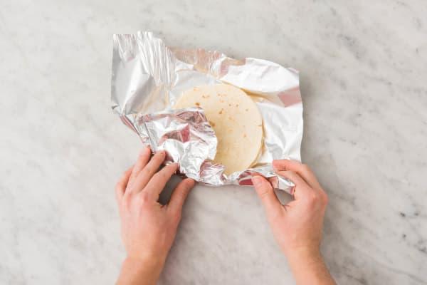 Réchauffer la tortilla