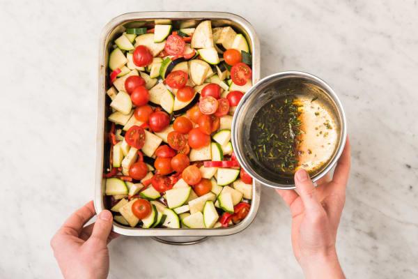 Enfourner les légumes