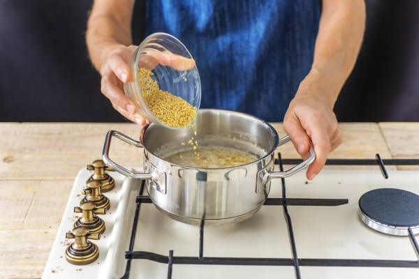 Cook the Bulgur Wheat