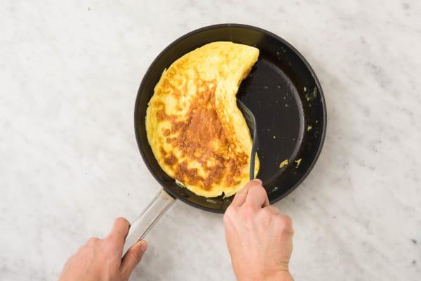 Préparer l'omelette