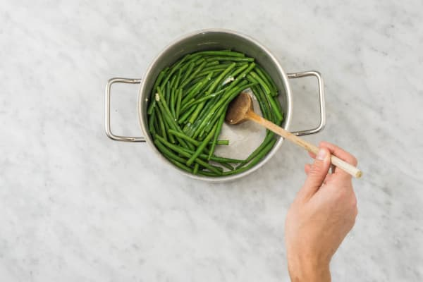 Cuire les haricots verts