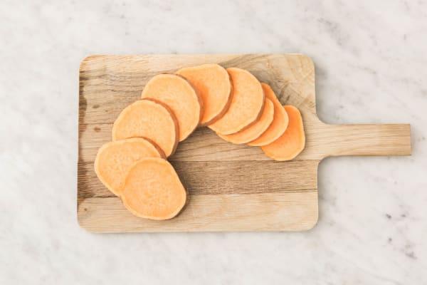 Süßkartoffel vorbereiten