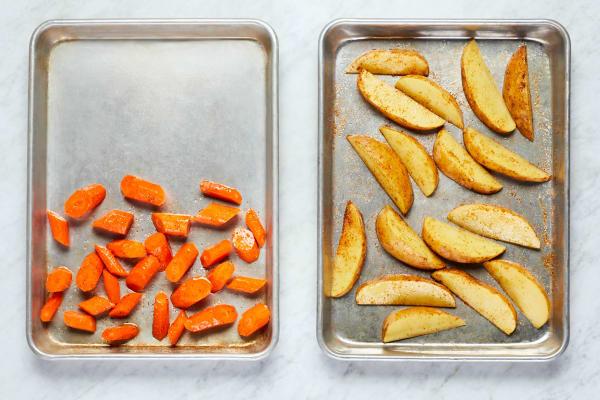 Season Potatoes and Carrots