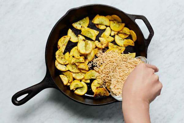 Cook Squash and Start Orzo