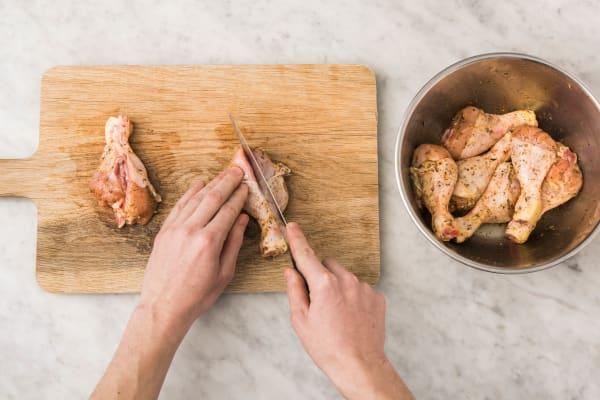 Cuire les pilons de poulet