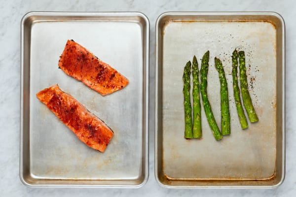 Roast Asparagus and Trout