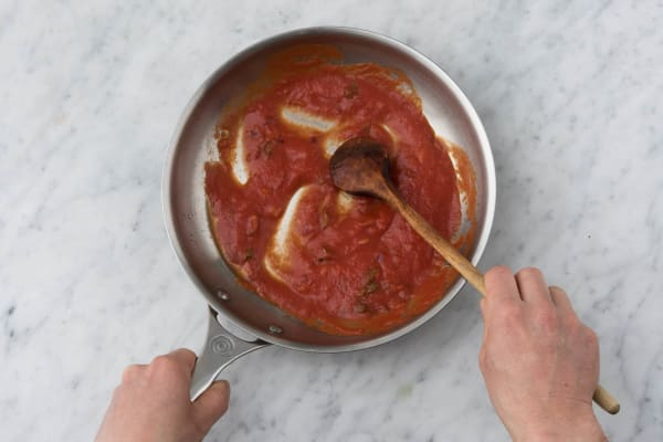 Add in the tomato passata