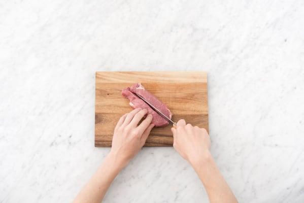 Prep the marinade and steak