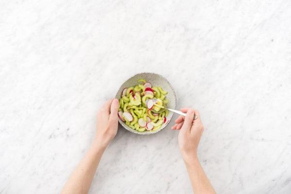 Make the quick pickled veggies