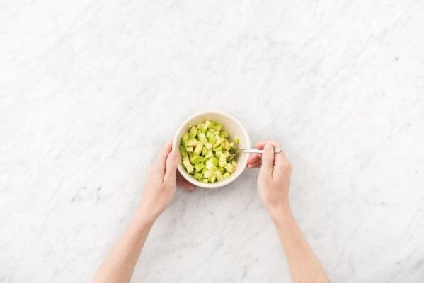 Prep the apple and avocado