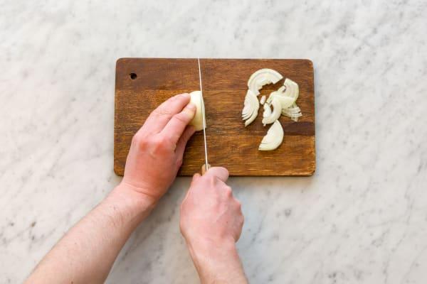 Cut onion.