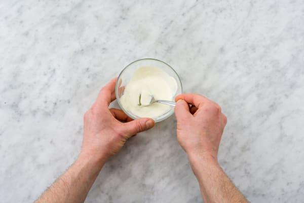 Make the lemony yogurt