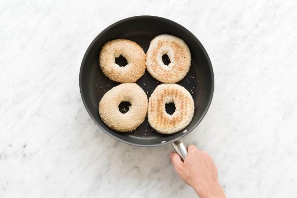 Bagels toasten