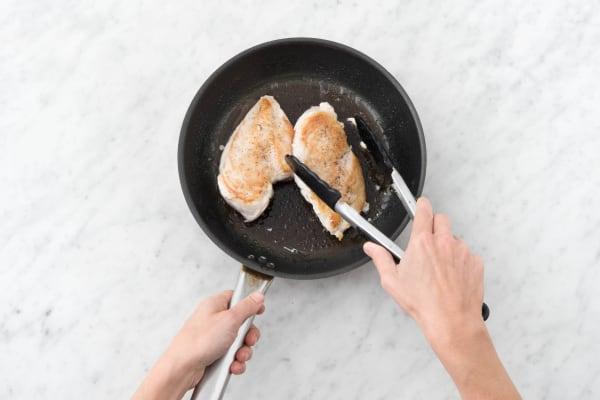 Hähnchenbrust anbraten
