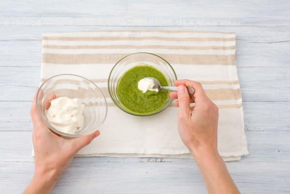 Combine the aioli and 1-2 teaspoons of the chimichurri