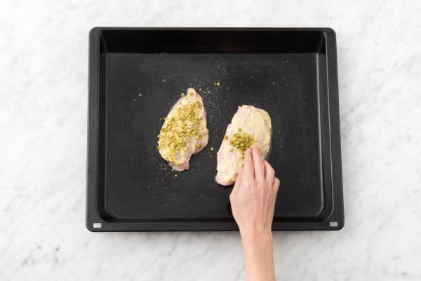 Prep and cook chicken
