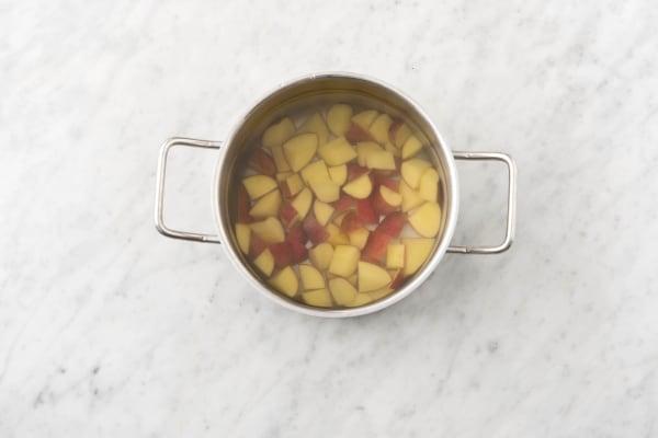 Cook potato.