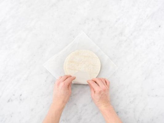 Toss Filling and Warm Tortillas