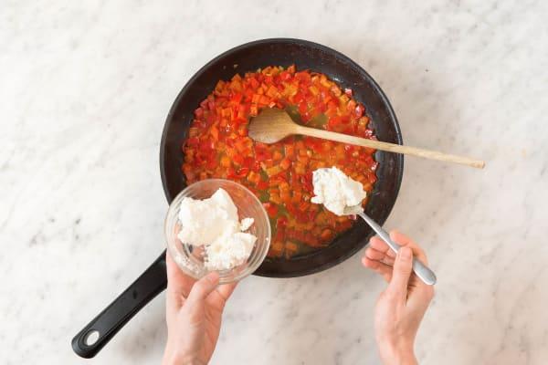 Paprika Soße vorbereiten