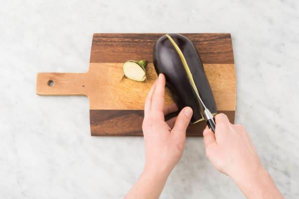 Prep eggplants
