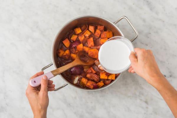 Gemüse ablöschen