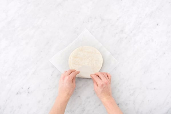 Toss Filling and Warm Tortillas