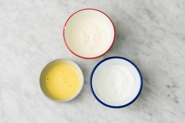 Battre les œufs et la crème fouettée