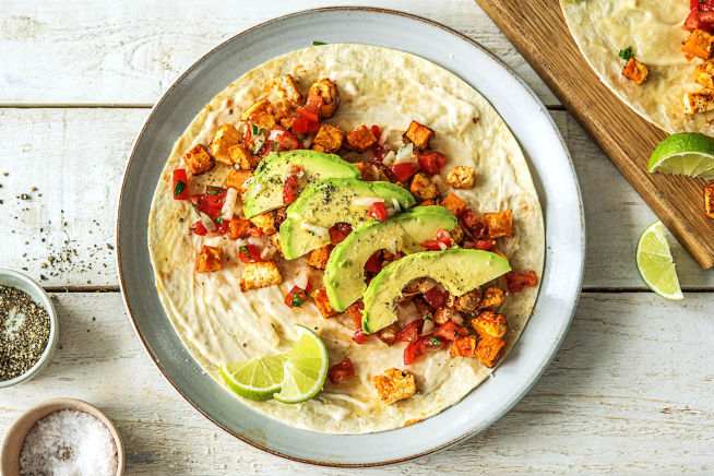 Rauchige Susskartoffel Hirtenkase Tacos