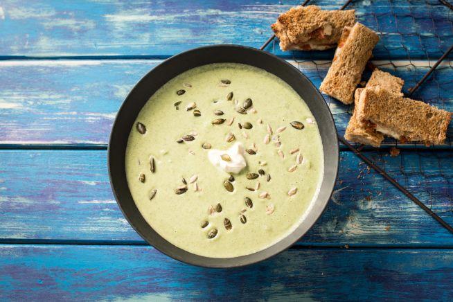 Schnelle Broccoli-Cremesuppe