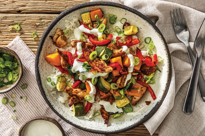 Cajun Chicken & Roast Veggie Rice Bowl