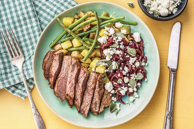 Greek-Style Fetta & Oregano Steak