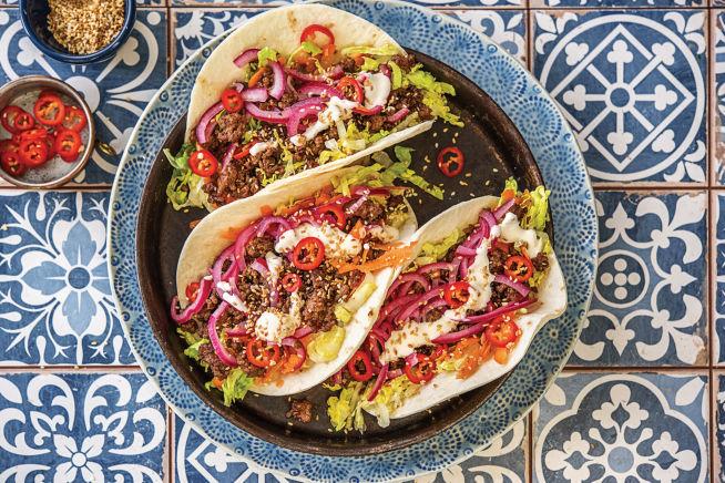 Five-Spice Sesame Beef Tacos