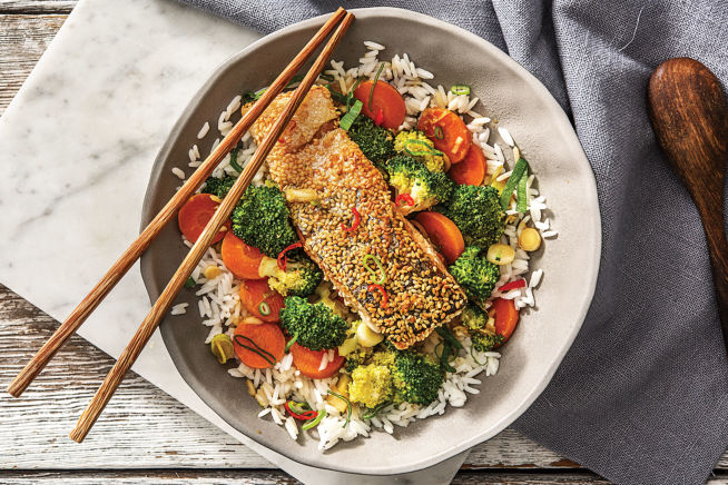 Japanese Sesame-Crusted Salmon