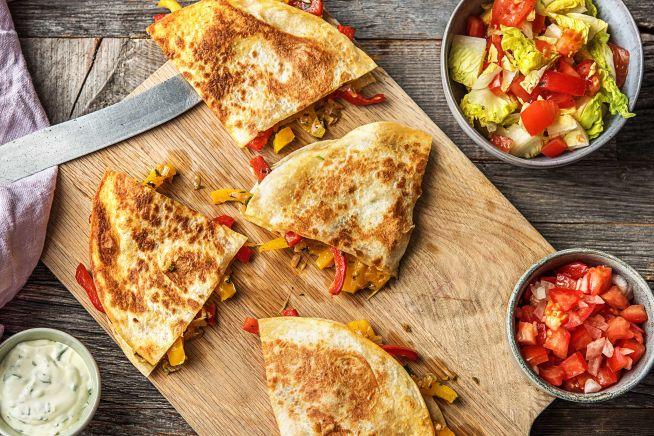 Vegetarische Quesadillas mit Salsa